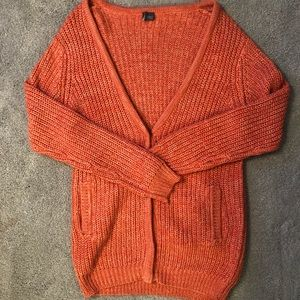 Oversized Cable Knit Cardigan Sweater